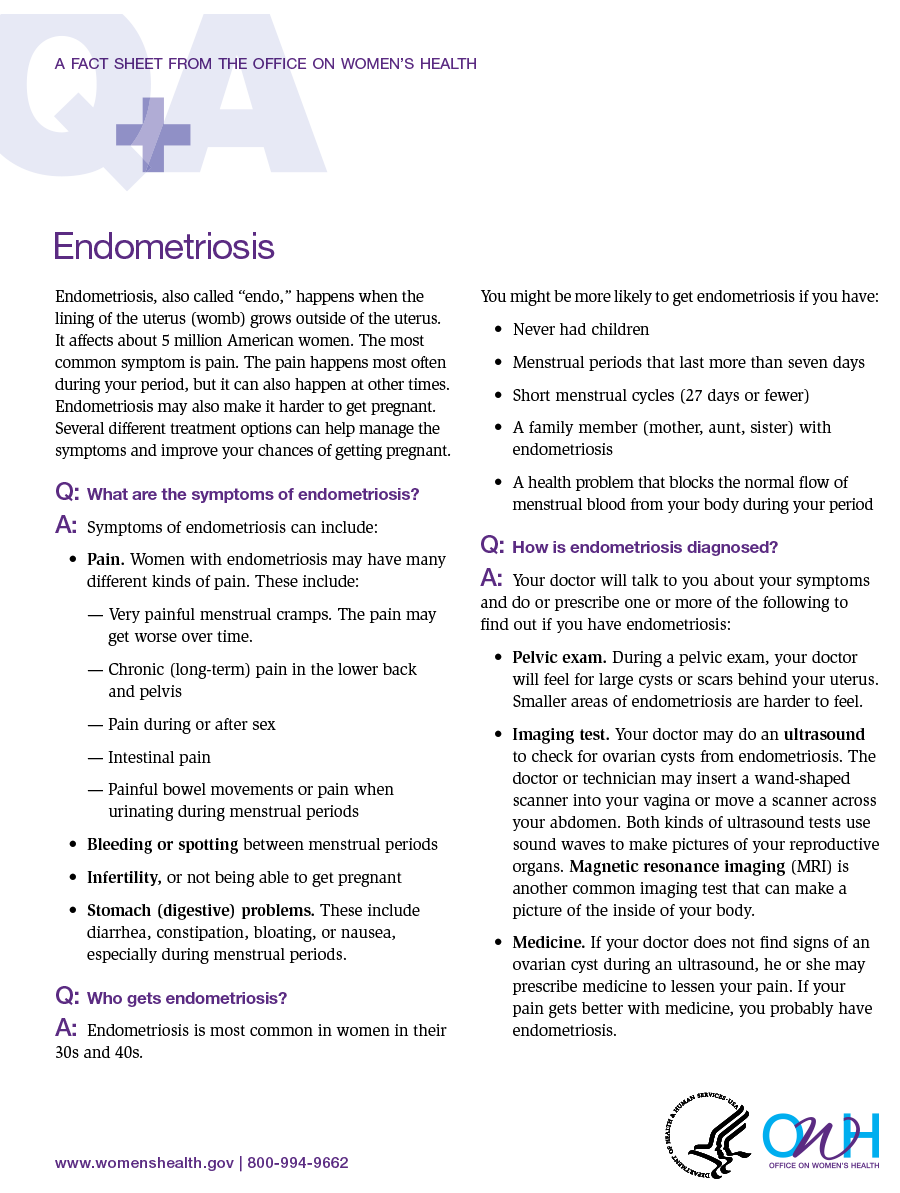 Endometriosis fact sheet