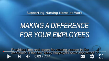 Video thumbnail for Supporting Nursing Moms at Work: Making a Difference for Your Employer