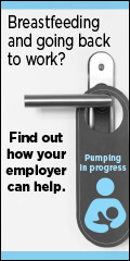 WOLAC badge: Breastfeeding and going back to work? Find out how your employer can help.